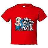 Camiseta niño Sóc del Girona com el meu avi amunt Girona - Rojo, 3-4 años