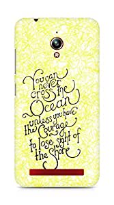 AMEZ you can never cross the Ocean Back Cover For Asus Zenfone Go ZC500TG