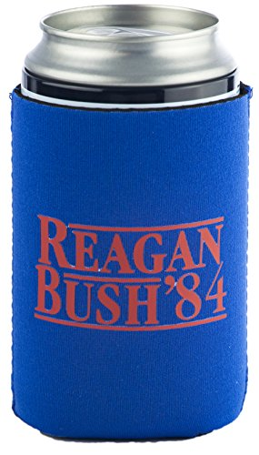 Funny Guy Tassen, Politische Neopren Coolies, Neopren, Reagan Bush Blue Can, Einheitsgröße