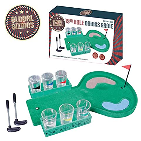 Benross Global Gizmos 52720 The 19th Hole Golf Drinking Game Gift Set