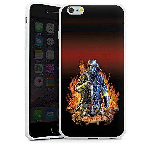Apple iPhone 7 Silikon Hülle Case Schutzhülle Feuerwehrmann Feuerwehr Firefighter Silikon Case weiß