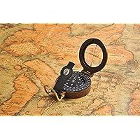 Huntington Premium: Schwerer Kompass aus Bronze, flüssigkeitsgedämpft, durchsichtige Kompassscheibe, T5618 (DE)