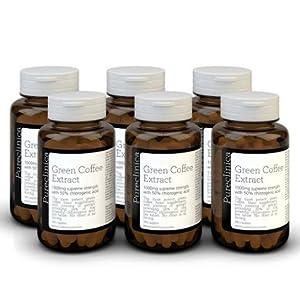 Doppelte Kaffeebohne, grüne Kaffeebohnen. Diese Wunder-Pille kann schnell Fett verbrennen. 1080 x 1000 mg (6 Flaschen – 18 Monate Vorrat) 50% Chlorogensäure Tabletten Strongest ever