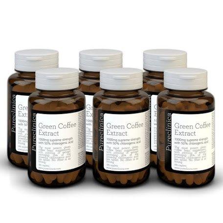 Doppelte Kaffeebohne, grüne Kaffeebohnen. Diese Wunder-Pille kann schnell Fett verbrennen. 1080 x 1000 mg (6 Flaschen - 18 Monate Vorrat) 50% Chlorogensäure Tabletten Strongest ever