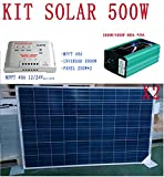 Kit solar 500W Komplettset Panel, MPPT und Investor) 12V und 24V Photovoltaik