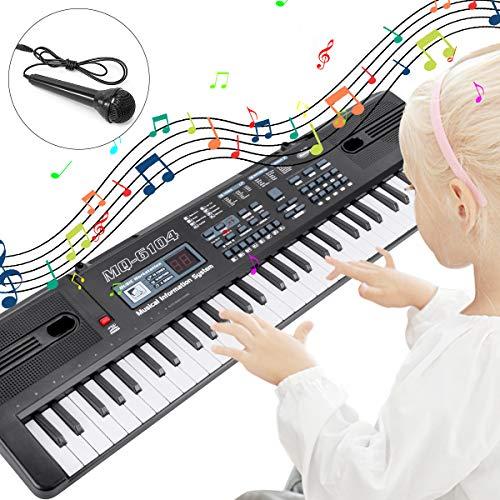 RenFox Teclado Electrónico Piano 61 Teclas