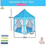 #9: Play House - Portable Foldable Star Pattern Hexagon Castle Play Tent with Mosquito Net Design - Perfect for Indoor & Outdoor Activities for Kids by Shuban - Blue Color