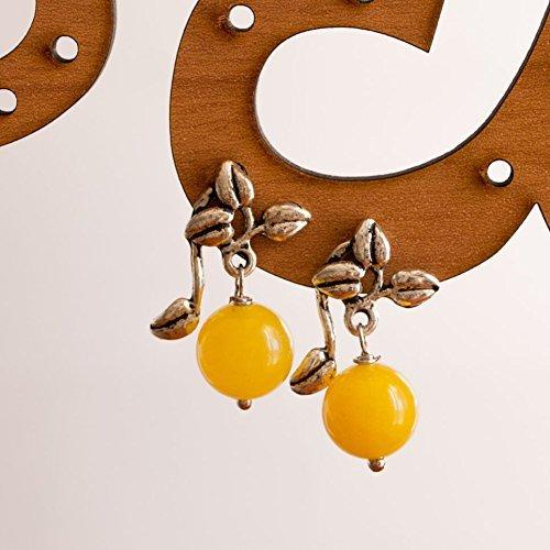 Pendientes amarillos de topacio