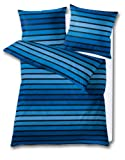 Kleine Wolke 6051798952 Bettwäsche Neapel 135 x 200 cm und 80 x 80 cm 2-teilig königsblau