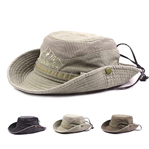 Imagen de bigboba sombrero de pescador anti uv algodón sombrero redondo sombrero de montaña acampar al aire libre senderismo viajes para hombres mujeres caqui  alternativa