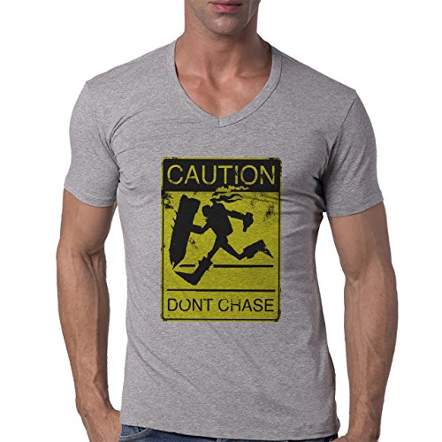 League Of Legends Singed Dont Chase Herren V-Neck T-Shirt Grau