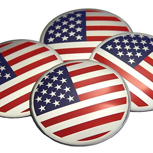 4×56mm Aluminium Amerikanische Flagge Auto Nabendeckel Nabenkappe 3D Emblem Abzeichen Aufkleber Badge Für Ford Chevrolet