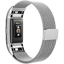 FitBit Charge 2 Bracelet, Hanlesi Watchband en acier inoxydable Fitness pour remettre en état votre Fitbit Charge 2