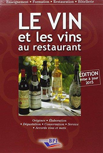 Le Vin et les vins au restaurant - édition 2015