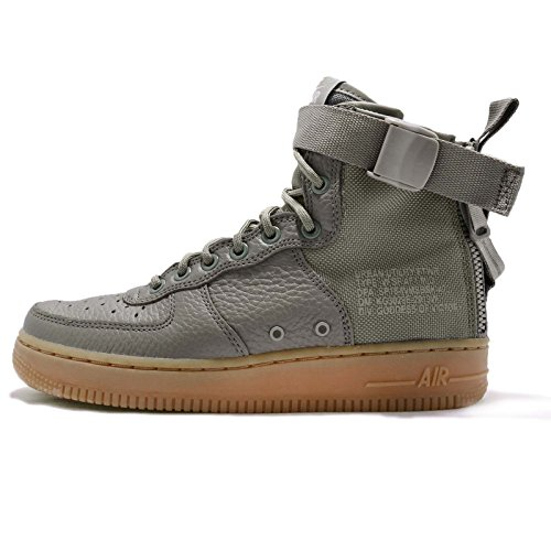 NIKE W SF AF1 Mid Womens Fashion-Sneakers AA3966-004_9.5 - Dark Stucco/Dark Stucco-Gum Light Brown