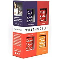 What a Pickle Gift Set - Tomato Chilli Jam, Red Onion Marmalade, Hot Chilli Jam & Carrot & Coriander Relish 100g