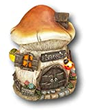 17,8cm Darling Little erleuchtet Kunstharz Garten GNOME Haus ~ batteriebetrieben 7' Orange Mushroom Roof