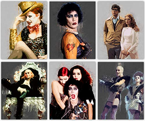 er Collection Rocky Horror Picture Show - Riff Raff - Columbia - Magenta - Brad and Janet - Frank - Set mit 6 Fotos à 20 x 25 cm ()
