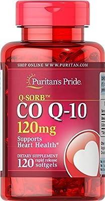 Puritan's Pride Q-SorbTM CO Q-10 120mg x 120 Rapid Release softgel Co-enzyme Q10
