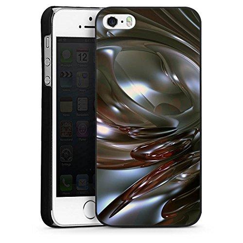 Apple iPhone 5s Housse Étui Protection Coque Chrome Chrome Chrome CasDur noir
