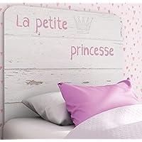 Abitti Cabezal Infantil Blanco con serigrafia Princesa. 110x90cm