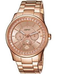 Espirit Starlite - Reloj de cuarzo con correa de acero inoxidable para mujer, color oro rosa