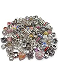 9c5049121 Truly Charming Job Lot Wholesale 100 x Charms Beads for Pandora Style  Silver Charm Bracelets Jewellery