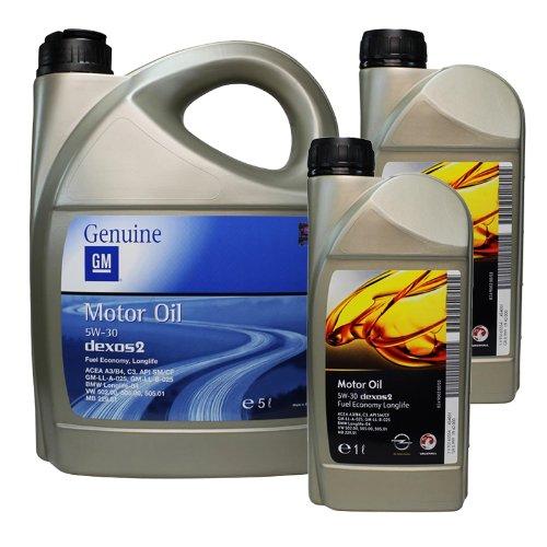 Opel GM 5W30 dexos2 Motoröl, 2x1 L Liter + 1x5 L Liter