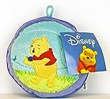 Disney - Winnie Pooh Kissen Plüsch rund 15 cm x 7cm hellblau / lila