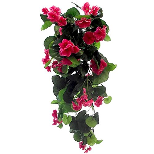 Trendy Bendy Garlands Schutzhülle, Hot Pink, Stück Künstliche Geranien aus Seide, 70cm, Blumen