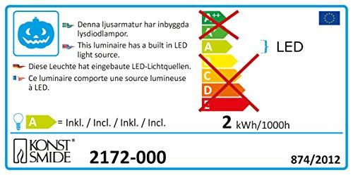 Konstsmide 2172-000 Fensterbild, Kürbis/mit an/aus Schalter/für Innen (IP20)/20 warm weiße Dioden/230V Innen/weißes Kabel