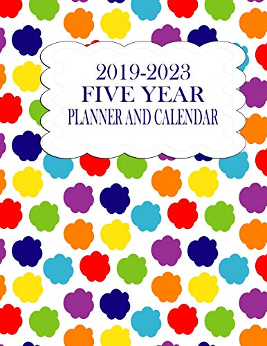 2019-2023 Five Year Planner And Calendar: Rainbow Clouds 60-Month Planner - Monthly Agenda And Organizer (Rainbow Planners & Calendars, Band 5)