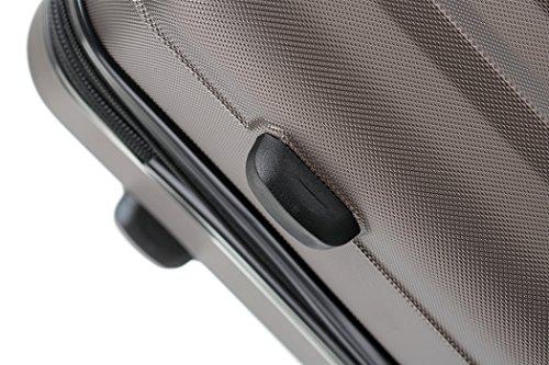 BEIBYE TSA-Schloß 2080 Hangepäck Zwillingsrollen neu Reisekoffer Koffer Trolley Hartschale Set-XL-L-M(Boardcase) in 12 Farben (Coffee, Set) - 4