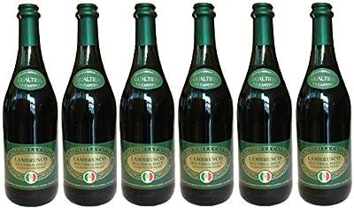 Lambrusco rosso dolce Gualtieri Dell`Emilia IGT (6 X 0,75 L) - Vino Frizzante - Roter Süßer Perlwein 7,5 % Vol. aus Italien
