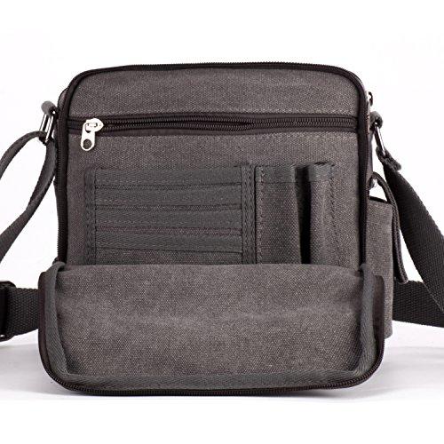 MeCool Schultertasche Canvas Umhängetasche Designer Marken Reisetasche Taschen für Männer Schule Retro Weekender Freitag Handtaschen Günstig Messenger Strandtasche Sporttasche Reisetaschen Grau