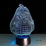 Lixiaoyuzz 3D Veilleuses Lampe De Table Illusion Usb Décor Capteur Rgbw Enfant Enfants Cadeau Squash Led Décoration-Toucher