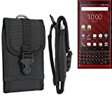 K-S-Trade® Belt Pouch/Holster For Blackberry KEY2 Red