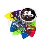 Tiger Guitar Plectrums with Pick Tin - 12 Gel 0.71mm
