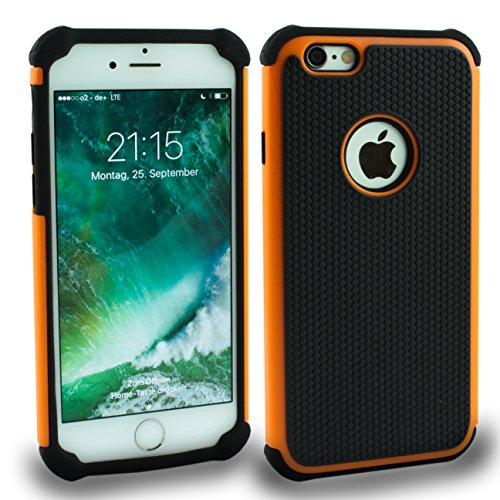 Iphone 6S Outdoor Case Gelb Cover inkl. Panzerglas 9H Hülle Schale Schutzhülle Bumper Yellow Orange