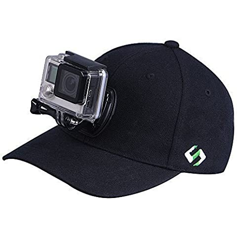 Smatree SmaHat H1 Baseball Hat con Quick Release Buckle per Gopro Hero 5, 4, Session, 3, 2, 1 (L(58-60)) - Baseball Angolo