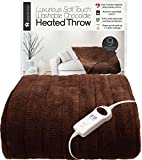 Homefront Pure Luxury Soft Washable Electric Heated Chocolate Throw (160 x 120 cms)