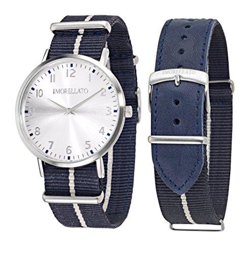 Morellato R0151134006 - Orologio da polso Uomo, Pelle, colore: Blu