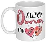 My Sweetheart® Oma Geschenk | Besondere PERSONALISIERBARE Geschenkidee | Weihnachtsgeschenk Oma Geburtstagsgeschenk | schöne Großmutter Tasse