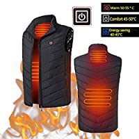 BluCos Heated Vest, USB Charging Heating Jacket, Body Warmer Vest, Washable Electric Thermal Waistcoat Heating Clothing, Comfortable & Lightweight Winter Warm Gilet for Indoor & Outdoor Use