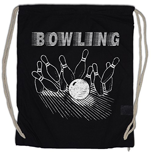 d Bowling Turnbeutel Sporttasche Wesley Crushers Team Let´s Bowl Rather Be Bowling T Shirt ()