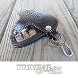 Schlüsseltasche Schlüsseletui Klappschlüssel Schlüssel LEDER ROT
