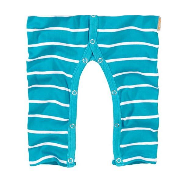 WELLYOU, Pijamas, Pijamas para niños y niñas, una Pieza de Manga Larga, niños pequeños, Color Azul Turquesa con Rayas… 3