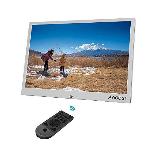 Andoer 13 Zoll Digital Fotorahmen LED Metallrahmen mit Fernbedienung 1280 * 800 Auflösung 1080P Video Shuffle Play 4 Farbe Weihnachts- und Geburtstagsgeschenk