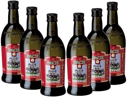 Olio extra vergine di oliva denocciolato - confezione da 6 bottiglie da lt.0,5-100% italiano, prodotto a freddo