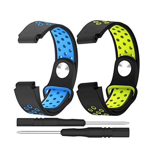 T-BLUER Garmin Forerunner 235 Bandes, Silicone Coloré Bracelet de remplacement pour Garmin Forerunner 220/230/620/630/735XT Smart Watch adapté à toutes les tailles